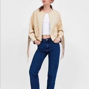 Zara Fringed Leather Jacket